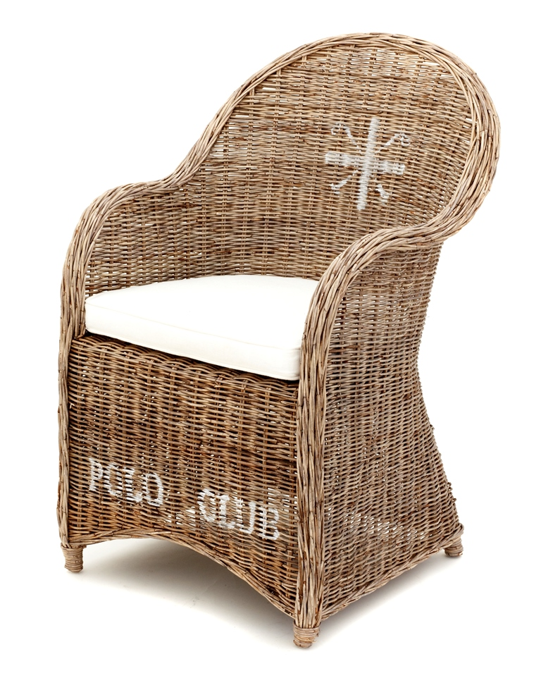 Wicker Chair with Cushion - $30