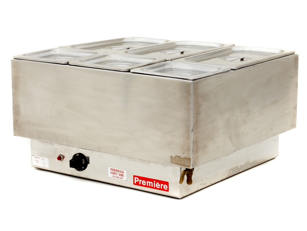 Bain Marie - 6 Pot / Oblong & Square: $50.00