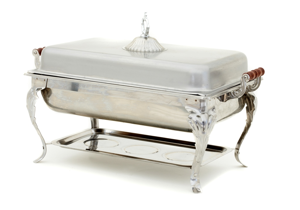 Chafing Dishes - Silver with 2 Fuel Burner: $60.00