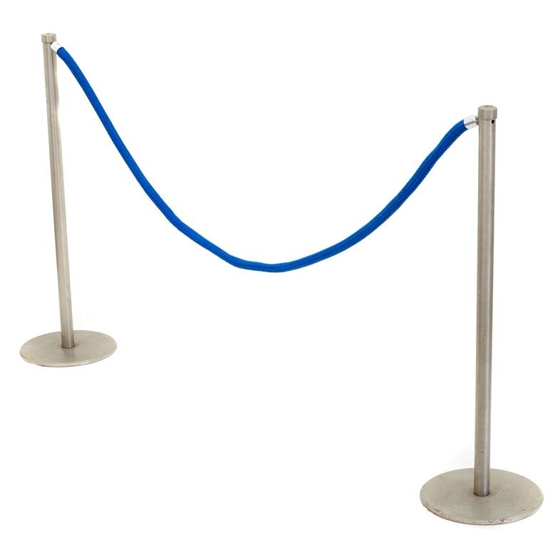Blue Rope (Crowd Controller) - 2 Poles per Set: $19.50